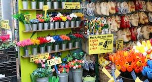Bloemenmarkt Banchi di fiori e souvenir