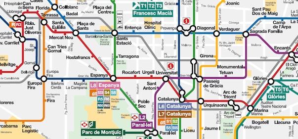 Cartina Metropolitana Di Parigi Da Stampare.Mappa Di Barcellona Da Stampare Metropolitana Treni Bus