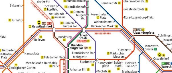 Mappa Di Berlino Da Stampare Metro U Bahn S Bahn E Tram