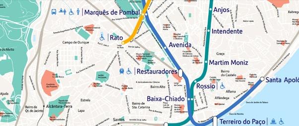 Cartina Monumenti Londra Pdf.Mappa Di Lisbona In Pdf Da Stampare Metro Tram E Bus