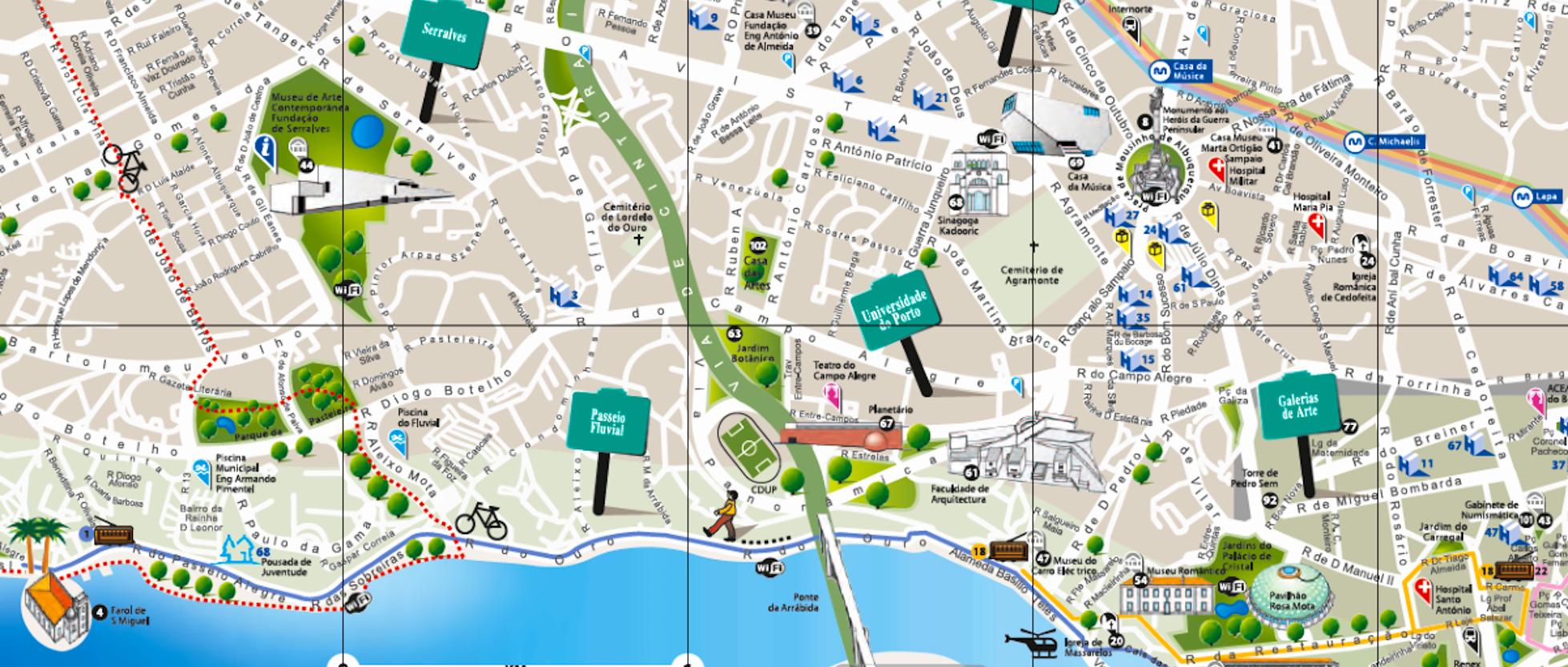 Mappe di porto da stampare attrazioni metro tram e bus for B b new york centro