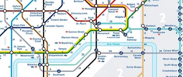 Mappa di londra da stampare metropolitana treni e autobus - Londra punti d interesse ...
