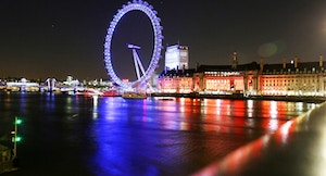London Eye di notte