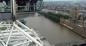 Vista su Londra dal London Eye