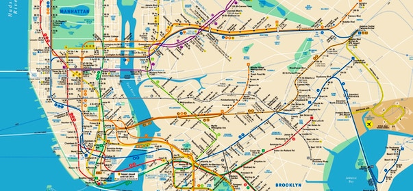 Cartina Metro Parigi Pdf.Mappa Di New York In Pdf Da Stampare Metro Treni E Bus