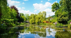 Giardini di Monet fiume