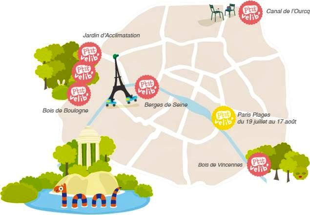 Cartina Parigi Con Quartieri.Parigi In Bicicletta Nasce P Tit Velib Il Bike Sharing Per Bambini