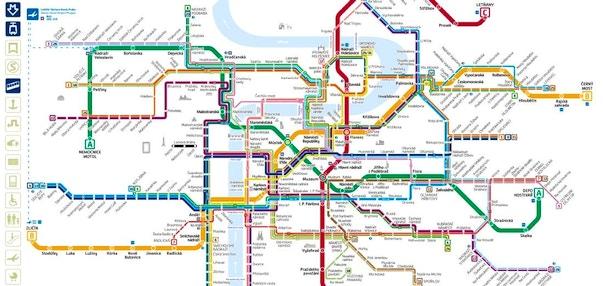 Mappa di praga in pdf da stampare monumenti metro tram e bus - Londra punti d interesse ...